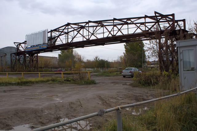 Остатки моста в городе