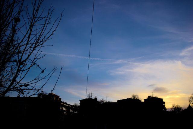 Красивое небо, городской вид